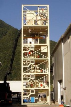 """Fully installed pellet tower unit """"ready for production"""""""