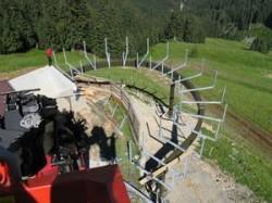 Zugangssteg Liftanlage Doppelmayr als Hohlkasten Fa. Teccon