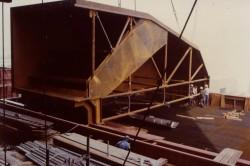 Oben liegender auf dem DENOX-Reaktor aufgesetzter Kanal