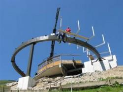 Zugangssteg Liftanlage Doppelmayr als Hohlkastenkonstruktion Fa. Teccon