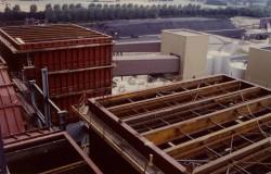 Symmetrisch angeordnete DENOX-Reaktoren von oben gesehen